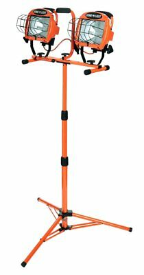 Work Light With Tripod Stand Adjustable Dual Halogen LED 1000Watt Portable Stand