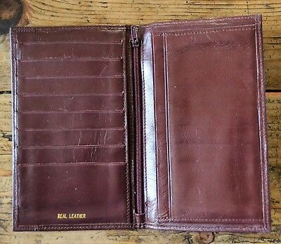 Vintage Brown Real Leather Wallet by Carlo