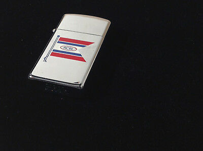 Vintage Slim Zippo Lighter ACBL Maritime Flag advertising mint condition   8