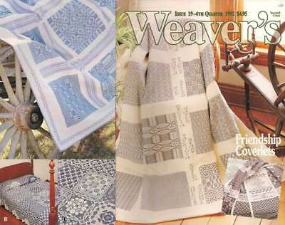 Weaver's magazine 19: FRIENDSHIP COVERLETS ~