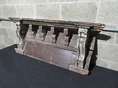 ~ 6 Antique Corbels Soffit 43 Inches ~ Wall Shelf Mantle ~ Architectural Salvage