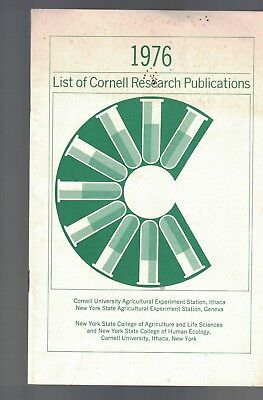 Cornell University Agricultural Station 1976 List of Research Publications