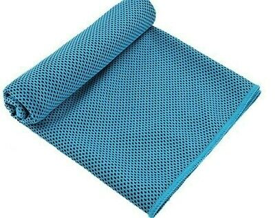 New Instant Cooling Towel.NAVY BLUE COLOUR. Ice Cold Sports.Neck Cooler. COOL