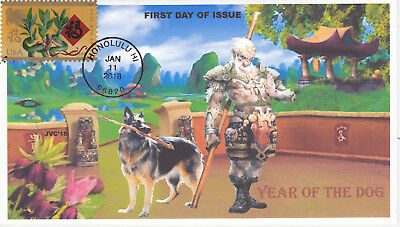 Jvc Cachets-2018 Lunar Year Of The Dog First Day Cover Fdc Chinese New Year #2