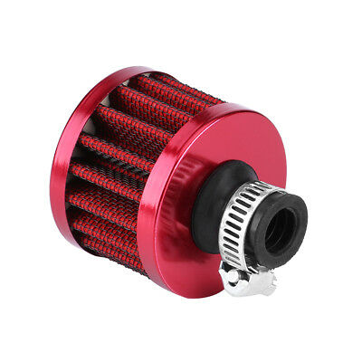 Universal 12mm Car Cold Air Intake Cone Crankcase vent Filter Induction Kit Red