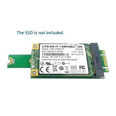 NEW M.2 NGFF PCI-E 2 LANE  to 50mm Mini-PCIE mSATA 18+8 SSD Hard Disk PCBA