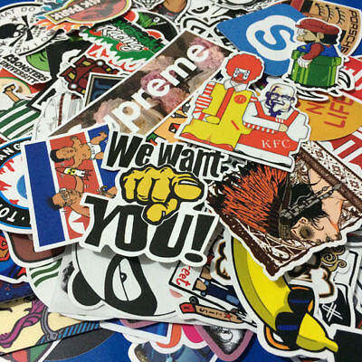 10 20 50 Pieces Stickers Skateboard Sticker Graffiti Laptop Car Luggage Decals