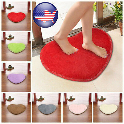 Heart Shaped Home Decor Large Fluffy Rugs Anti-Skid Shaggy Area Rug Living Room