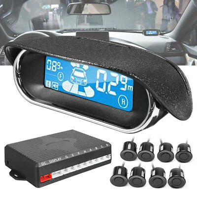 Kit 8 Sensori Di Parcheggio Radar Dual-Core Led Display Cicalino Per Auto Camper