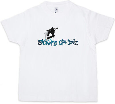 Skate Or Die Kids Long Sleeve T-shirt Skateboard Skater Kickflip Halfpipe Sk8 Clothes, Shoes & Accessories T-shirts, Tops & Shirts