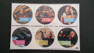 1995 Star Trek Generations the movie set of 6 pogs from RAMADA (MOC)