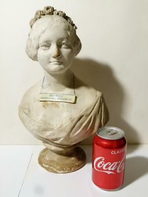 Frederick R. Rambaut 1850 Sculpture of Mrs How Pottery Bust Unique IRELAND