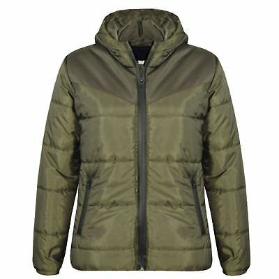Kids Jacket Boys Girls Padded Puffer Bubble Zipped Hooded Warm Thick Coats 3-13Y