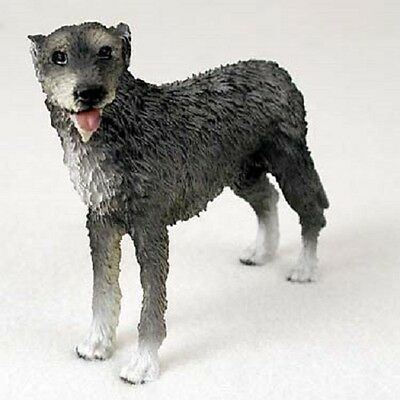 IRISH WOLFHOUND Dog HAND PAINTED FIGURINE Resin Statue COLLECTIBLE puppy NEW