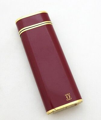 Cartier Paris Accendino Laccato Bordeaux !!