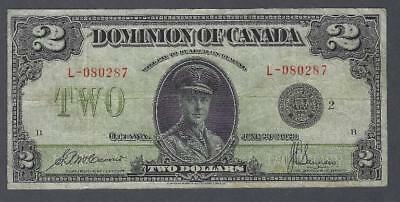 1923 (DC-26f) Dominion of Canada Two Dollars F-12