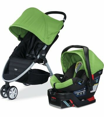 Britax 2015 B-Agile 3 Stroller & B-Safe 35 Car Seat Travel System Meadow NEW!