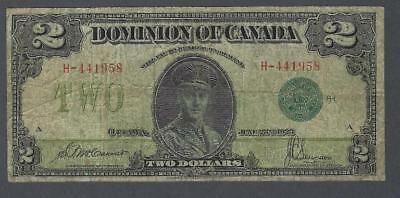 1923 (DC-26d) Dominion of Canada Two Dollars VG-8