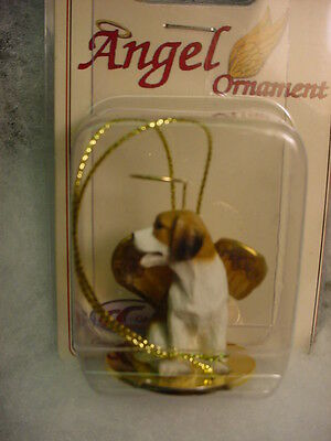 BEAGLE dog ANGEL ORNAMENT resin Figurine HAND PAINTED Statue NEW Christmas puppy