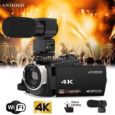 Andoer WiFi 4K UHD 1080P 48MP 16X Digital ZOOM Video Camera Camcorder Recorder