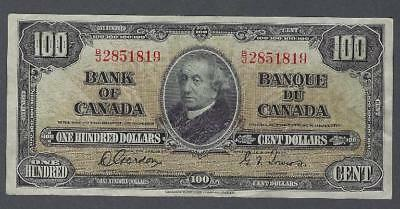 1937 (BC-27b) Bank of Canada One Hundred Dollars VF-EF