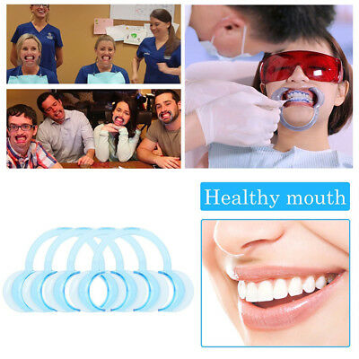 10pcs Mouth C Shape Opener Dental Cheek Retractor Funny Game Watch S M L size