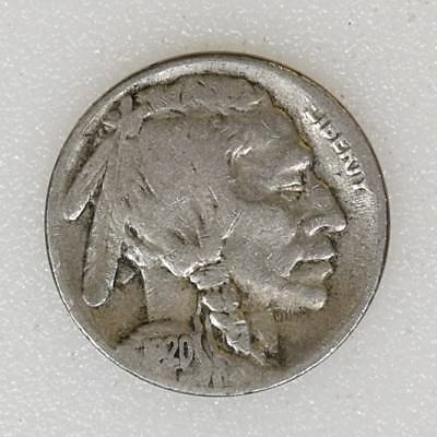 1920-S FINE+ Condition Buffalo Indian Nickel Nice Color Strong Date - I-12135 E