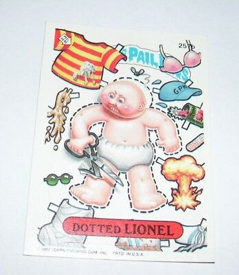 Garbage Pail Kids Dotted Lionel 1987 Topps Trading Card 257b