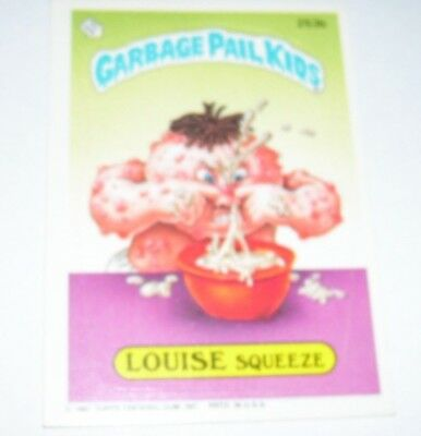 Garbage Pail Kids Louise Squeeze 1987 Topps Trading Card 253b