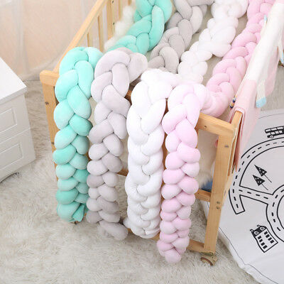 Bumper Pillow Braid Crib Infant Baby Decoration Plush Bedding Cushion Protector
