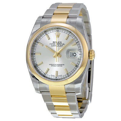 53933f2bb88 Rolex Datejust 36 Silver Dial Stainless Steel and 18K Yellow Gold Rolex  Oyster