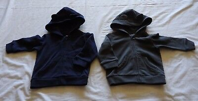 2 x BABY BOY size 00 NAVY & Grey zip up hoodies hoodys  tops NEW Target
