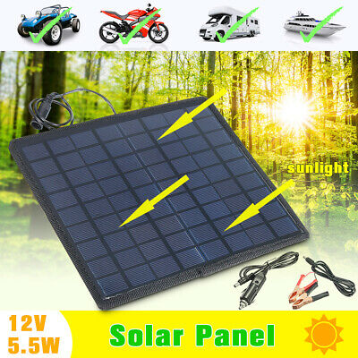 18V/12V Car Boat Yacht Solar Panel Trickle Battery Charger Outdoor Power Supply