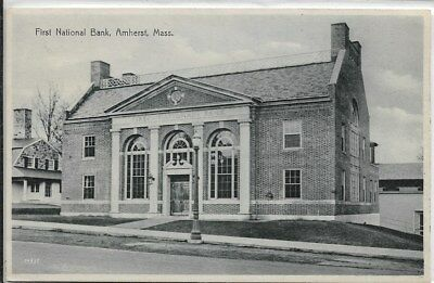 AMHERST, MA - First National Bank, front/right side view from street
