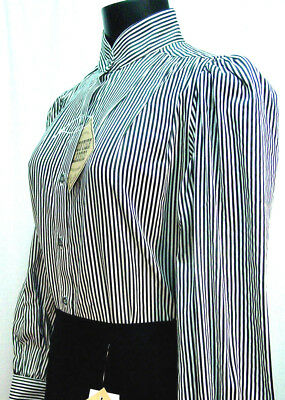 Victorian Frontier Classics Vintage style black striped blouse sizes S-3X new