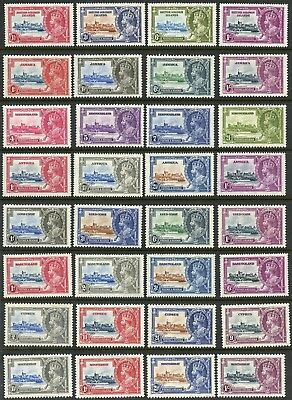 British Commonwealth 1935 Silver Jubilee  Selection Of Mint Hinged Stamps Shown