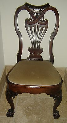 Antique Boston Chippendale Carved Walnut Side Chair Circa 1760-1775 Stunning.