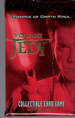 "Star Wars Young Jedi ""Menace of Darth Maul"" Booster Pack lot of 3"