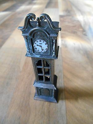 Old Vintage Pencil Sharpener Miniature Grandfather Clock Apex Quality Hong Kong