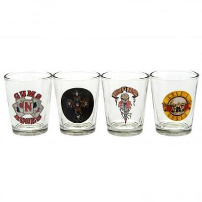 Guns N Roses 4pk Shot Glass Set (football club souvenirs memorabilia)