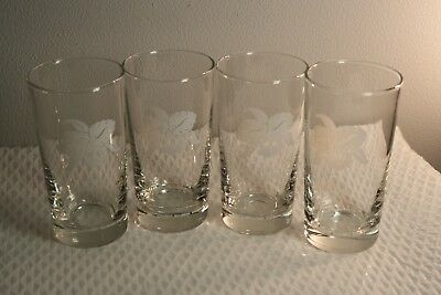 Set of 4 VINTAGE Old Forester Kentucky Bourbon 12 oz Collectible Bar Glasses