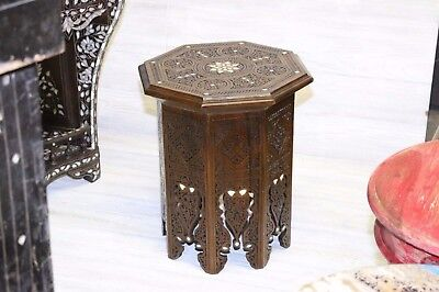 Original Syrian made MiddleEastern Moroccan Mediterranean Octagon side end Table