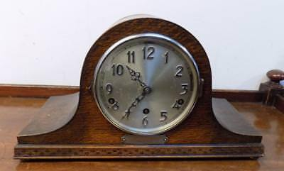 oak cased westminster whittington napoleon mantel clock c1935