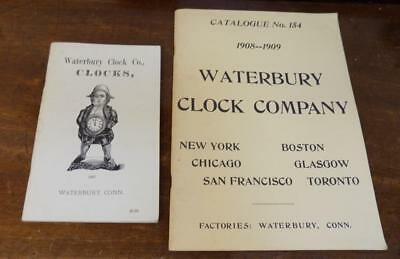 2 waterbury usa clock catalogues