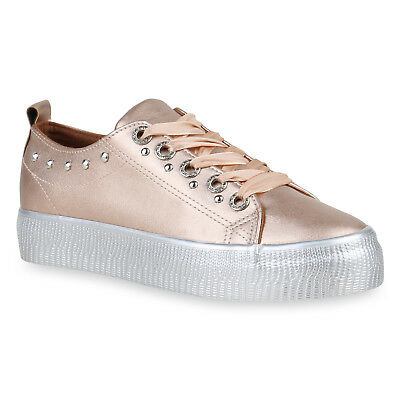 MUST-HAVE DAMEN SCHUHE 133196 SNEAKERS ROSE GOLD 37 STYLISCH