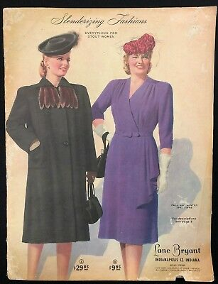 LANE BRYANT FASHION CATALOG (Fall/Winter 1947/1948) 100-pages illustrated