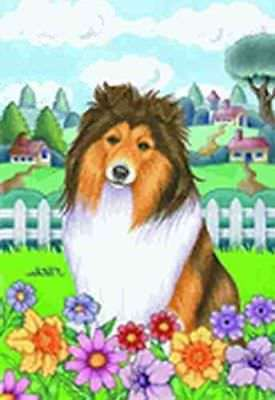 Large Flag SHETLAND SHEEPDOG Dog Breed Spring Colors House Flag Hanging Flag USA