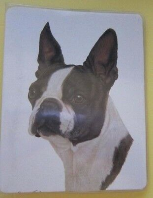 Retired Dog Breed BOSTON TERRIER Vinyl Softcover Address Book by Robert May