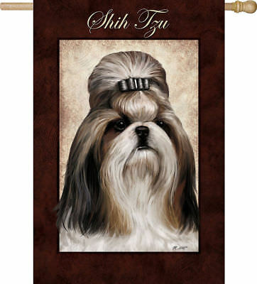 Large Outdoor SHIH TZU Dog Breed Full-Size House Flag Retired CLEARANCE