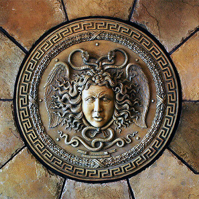 Medusa Gorgon Bust Head Greek Decorative Wall Relief Sculpture Plaque Replica